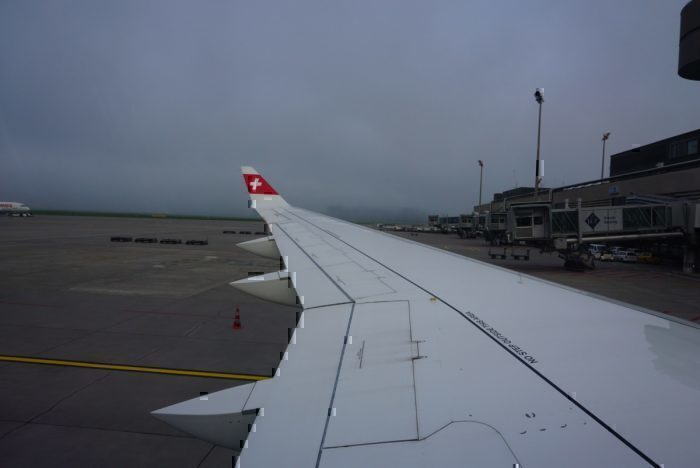 Wing view, ZRH airport