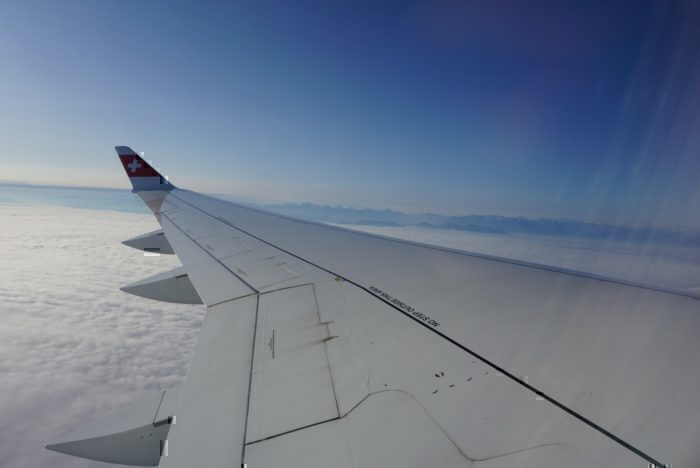 Swiss Alps, wing view