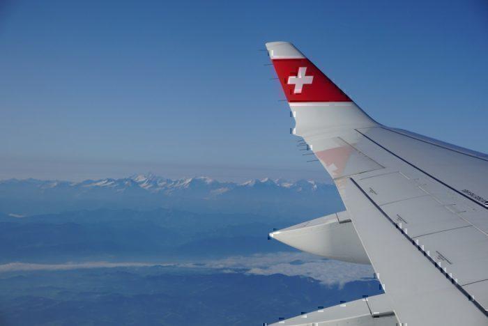 Swiss Alps, wingtip