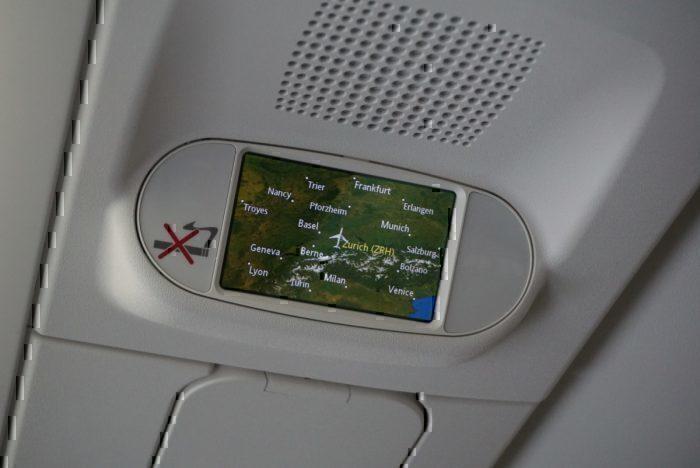 on board screen, map display