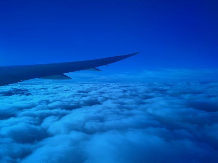 787 window, Dark blue tint