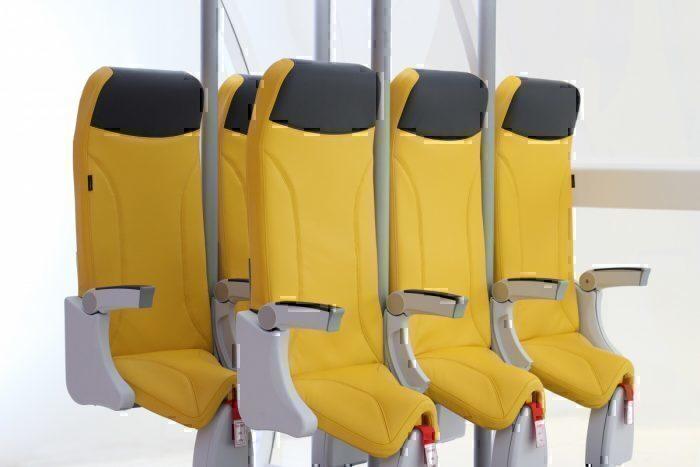 O Skyrider é proposto para uso em voos não superiores a três horas devido ao seu posicionamento ascendente. Foto: Aviointeriors