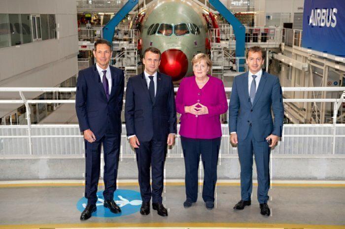 Merkel Macron Airbus