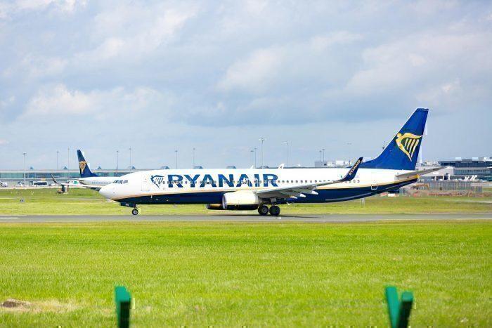 Ryanair jet on ground