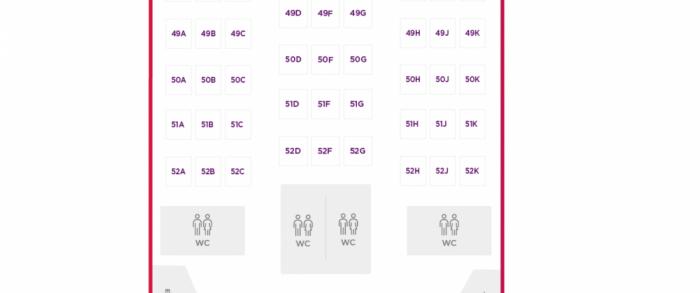 VS A350 economy row 52