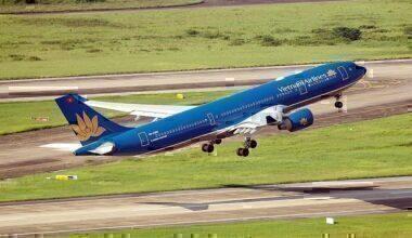 Vietnam Airlines jet taking off