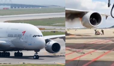 A380 engine fire