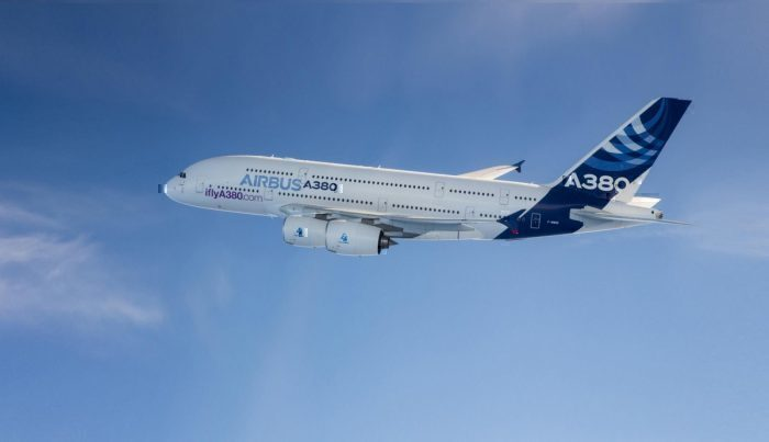 Airbus A380 airliner.