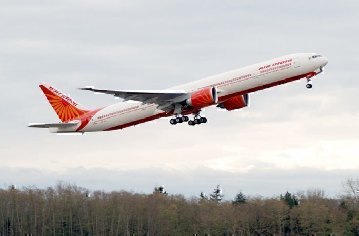 Air India jet taking off