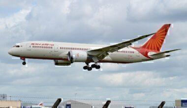 Air India jet landing