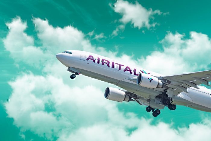 Air Italy jet in flight