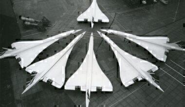 Six British Airways Concorde aircraft