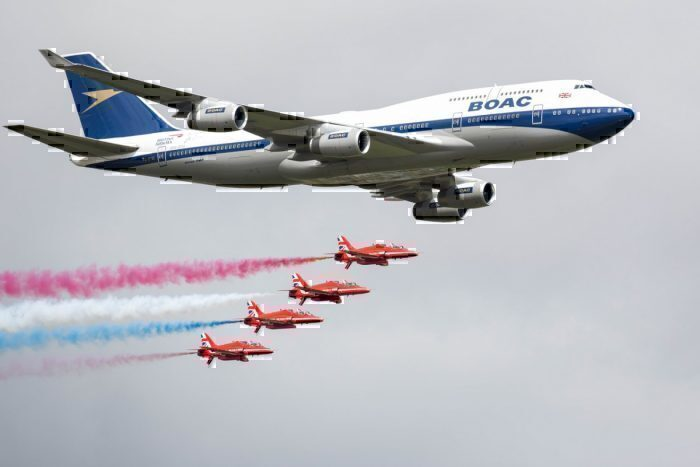 A British Airways comemorou seu 747 no Royal International Air Tattoo. Foto: British Airways