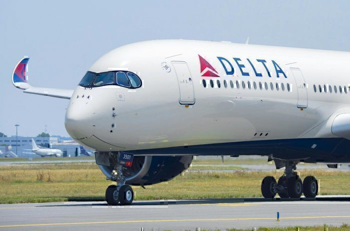 Delta Air Lines A350 on taxiway