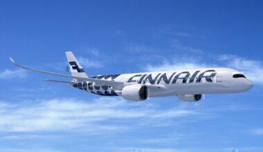 Finnair A350 concept in flight