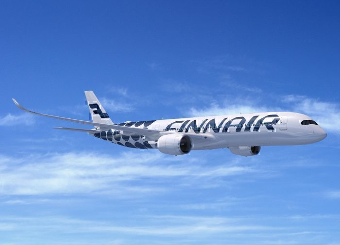 Finnair A350 concept in flight