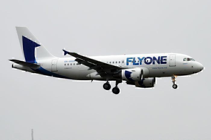 FlyOne A319 landing