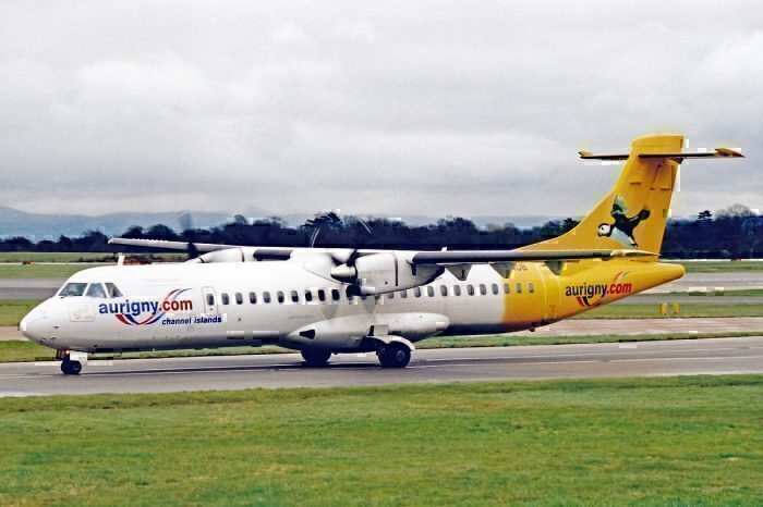 Aurigny Air ATR on taxiway
