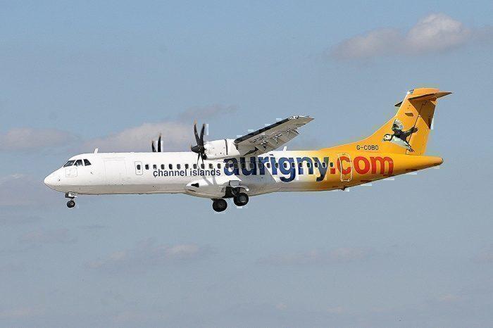 Aurigny ATR landing