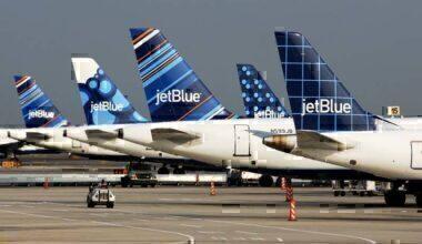 JetBlue Airbus tailfins
