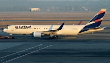 LATAM jet on taxiway