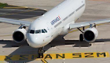 Air France jet on runway