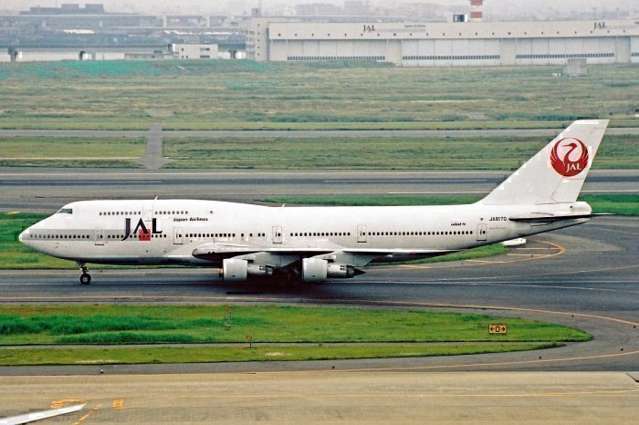 JAL B747SUD on taxiway