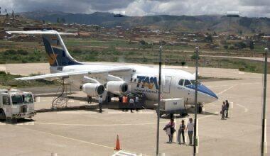 TAM Bolivia jet on tarmac