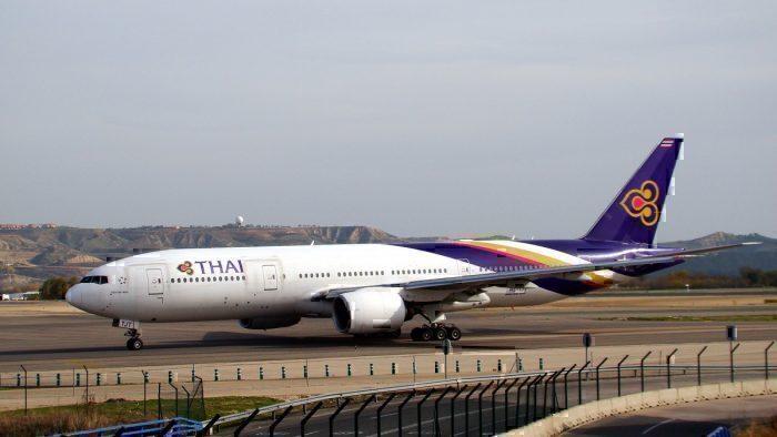 Thai Airways B777 on taxiway