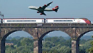Virgin plane and train