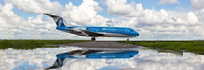 Dutch airline KLM Aircraft on runway