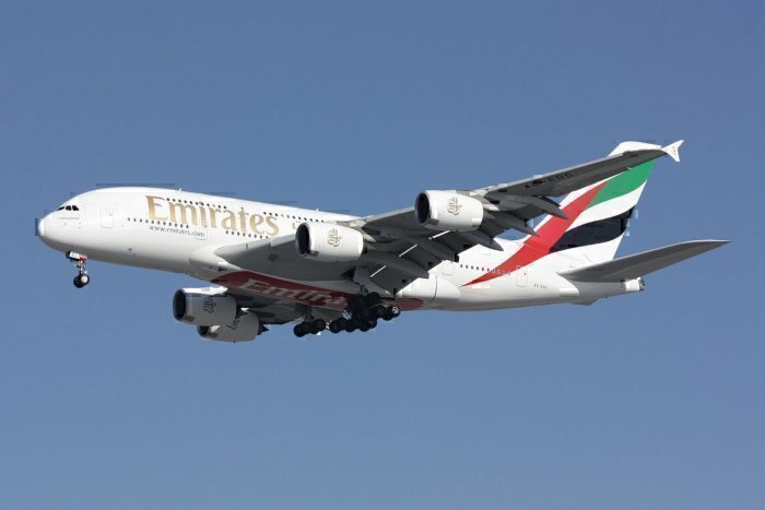 Airbus A380 on final approach to Runway 27R at Paris-Charles de Gaulle Airport