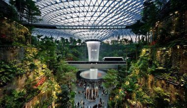 Singapore Jewel Changi Complex and indoor tropical garden