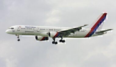 Nepal Airlines' Boeing 757-200M registered 9N-ACB