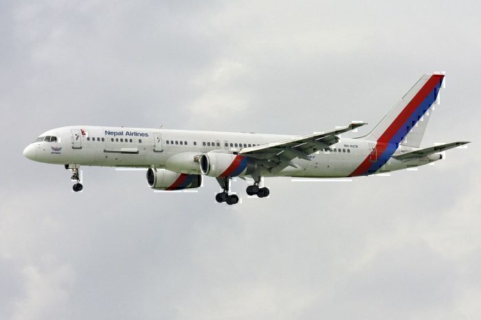 Nepal Airlines' Boeing 757-200M registered 9N-ACB