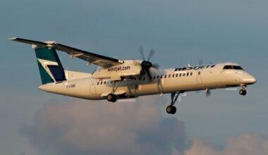 WestJet Encore Bombardier Dash-8 Q400 C-FQWE