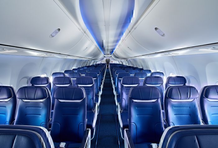 Southwest Airlines 737 MAX interior