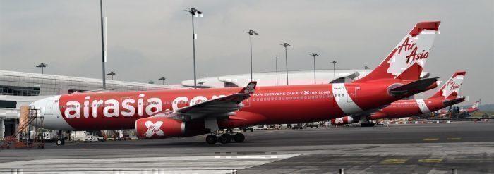 Air Asia X aircraft at terminal
