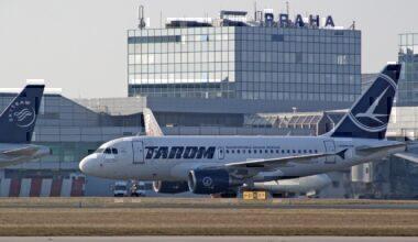 Tarom A318-111 YR-ASA Prague Airport