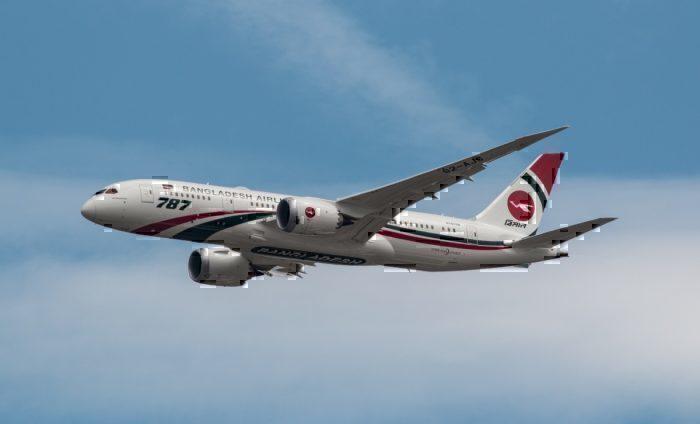 A Biman Boeing 787-8 Dreamliner