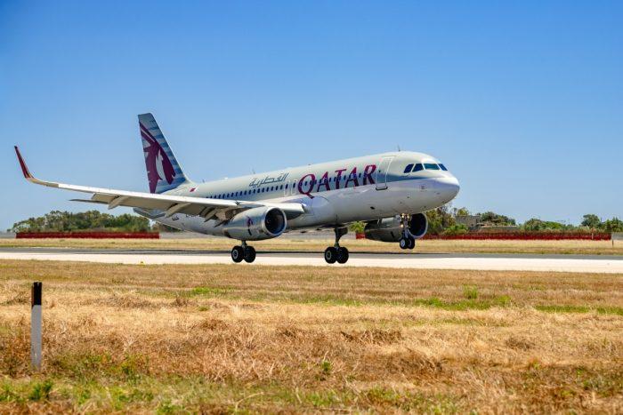 Qatar Airways Aircraft Landing