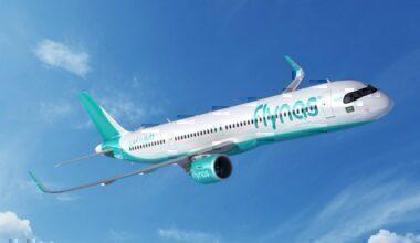 An Airbus A321XLR Flynas