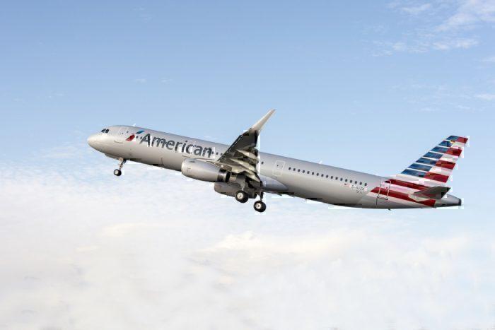 Airbus A321 in air