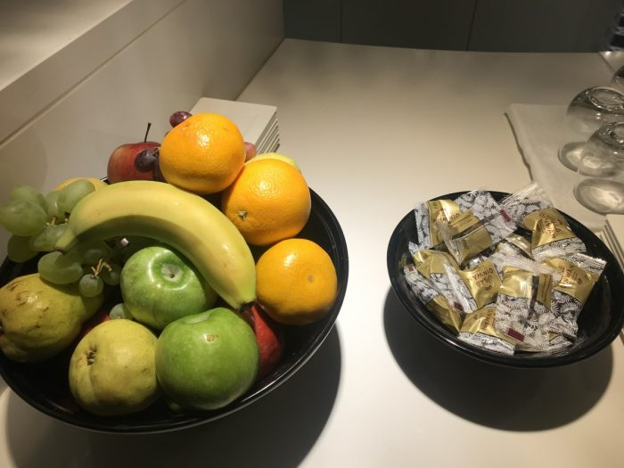 QA Premium Lounge Heathrow Fruit