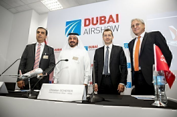 Airbus Air Arabia signing Dubai Air show