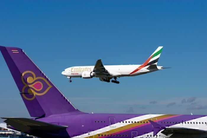 Emirates and Thai Flag Carrrier