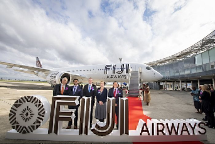 Fiji Airways A350 delivery
