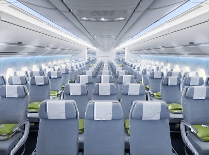 Finnair A350 economy cabin