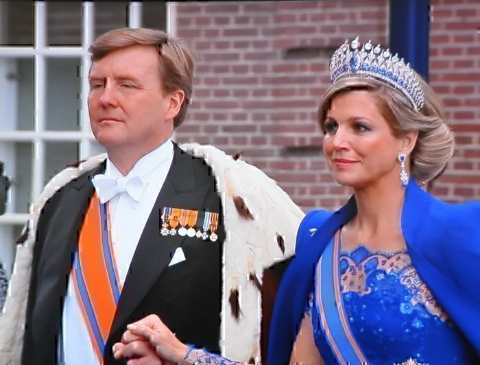 King Willem-Alexander at his coronation in 2013