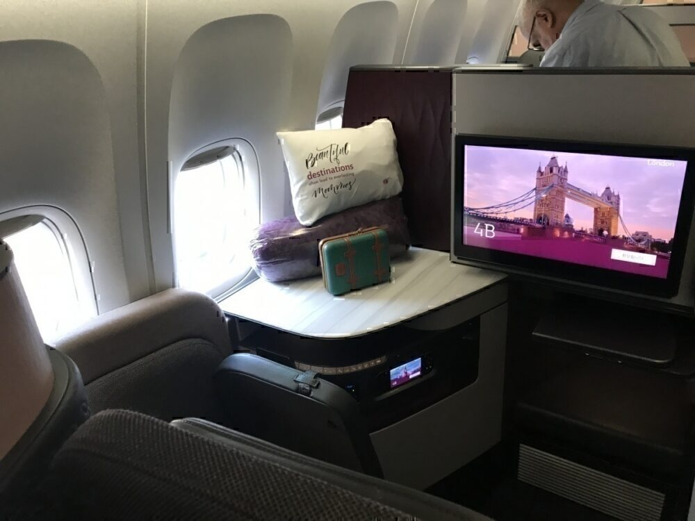Qatar Airways Qsuites front angle
